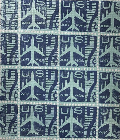 Blue Air Mail Stamps, 1962