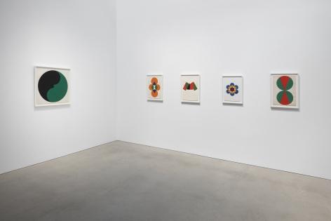 Installation view ofLeon Polk Smith: Endless Space, 2019.