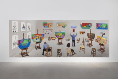 David Hockney, Inside It Opens Up As Well, 2018