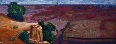 Study for a Closer Grand Canyon VIII, Cliff and Gully, 1998