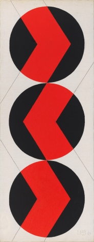Leon Polk smith untitled acrylic on canvas 1969
