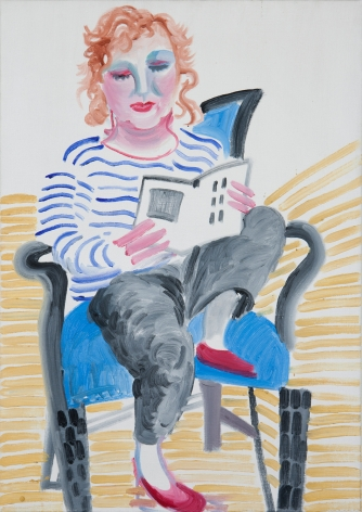 David Hockney Celia with Her Foot on a Chair Oil on canvas