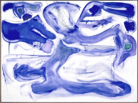 Sam Francis Blue d'Arcueil (SFP60-3) Acrylic on linen