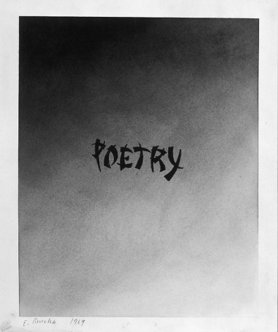 Poetry, 1969 Gunpowder on paper