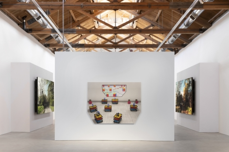 Installation view ofDavid Hockney: Time and More, Space and More...