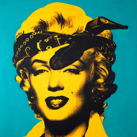 "Knowledge Bennett ""Marilyn Monroe (Good Girl Gone Bad) Yellow & Green"" Galerie LeRoyer, Knowledge Bennett, Galerie LeRoyer, Marilyn Monroe"