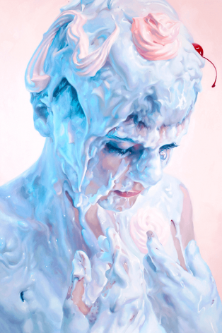 Ivan Alifan, Galerie LeRoyer, Marvel, huile sur toile, oil painting, meringue