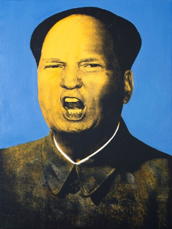 "Knowledge Bennett ""Mao Trump 1"" Galerie LeRoyer, Knowledge Bennett, Trump, Donald Trump, Galerie LeRoyer, satirical art, pop art"
