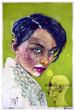Ole Aakjaer, Galerie LeRoyer, watercolour art, ink art