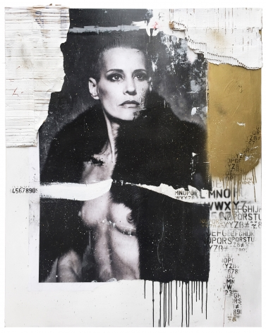 Denis Dulude, Galerie LeRoyer, Denis Dulude Ève, Mixed media on wood, Ève Salvail, model art