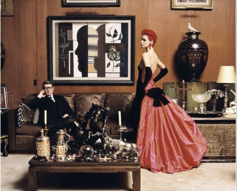 Yves Saint-Laurent, Sibyl Buck, Paris, October 1995, C-Print