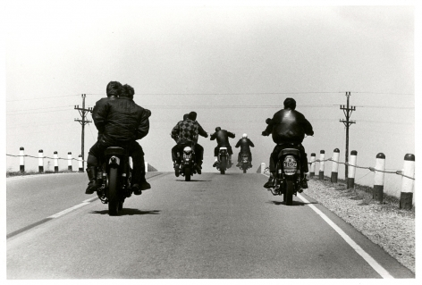 Copyright Danny Lyon / Magnum Photos, Route 12, Wisconsin, from The Bikeriders, 1963