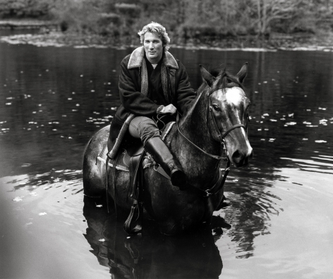 Richard Gere on Horse 1, Poundridge, 1993, 11 x 14 Inches,Silver Gelatin Photograph, Edition of 3