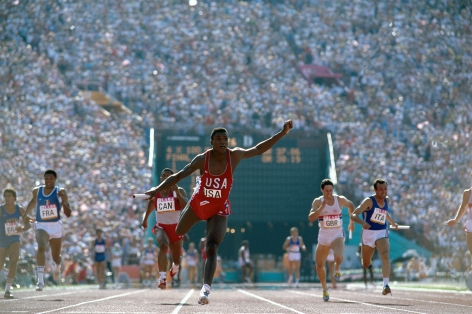 Carl Lewis, Summer Olympics, 1984, Color Photograph