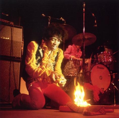 Jimi Hendrix Immolating Strat, Monterey, CA, Ultrachrome Pigment Print