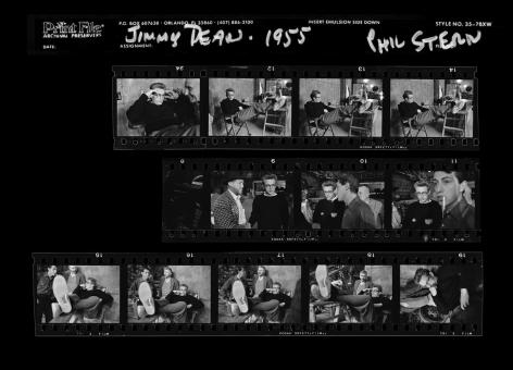 Phil Stern James Dean (Feet Up), Contact Sheet, 1955