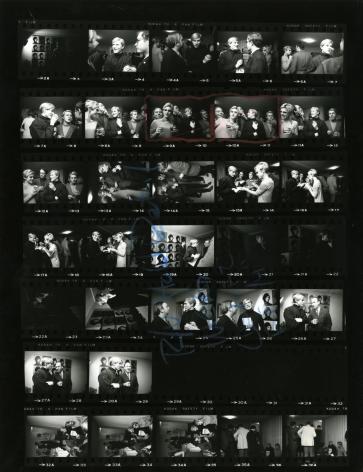 Steve Schapiro, Andy Warhol, Edie Sedgwick and Entourage, New York (Contact Sheet), 1965