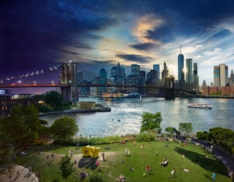 Brooklyn Bridge, Day to Night, 2016, C-Type Print