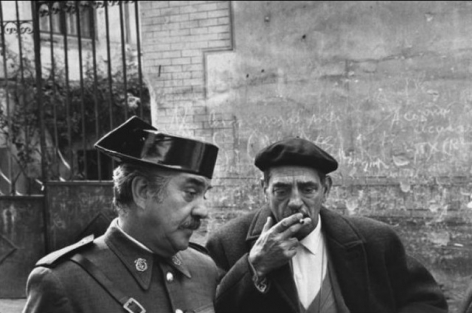 """Luis Bunel and Fernando Rey during the filming of """"Tristana"""", Toledo, Spain,1970, Silver Gelatin Photograph"""