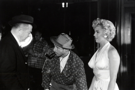 Marilyn with Billy Wilder and Unidentified Man, 14 x 17 Silver Gelatin Photograph