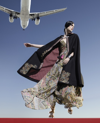 Fashion (with Cape and Plane), Los Angeles, 2016, 40 x 32 1/2 Inches, Archival Pigment Print, Edition of 5