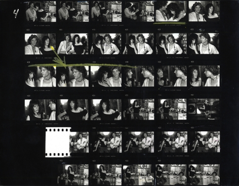 Norman Seeff Robert Mapplethorpe and Patti Smith, New York (Contact Sheet), 1969