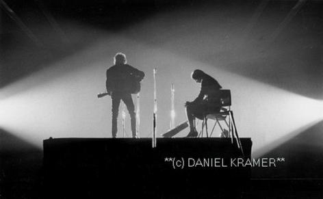 Daniel Kramer Bob Dylan and Joan Baez in Crossed Lights, New Haven, Connecticut, 1965