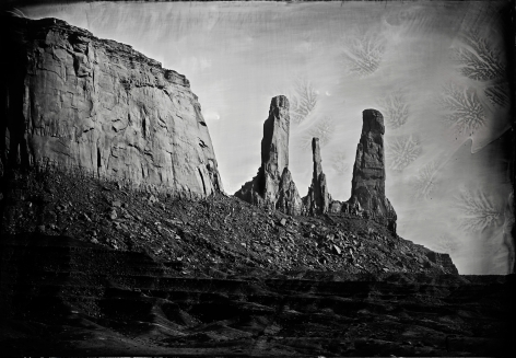 Stagecoach, Monument Valley, 2014, Unique Collodion Wet Plate