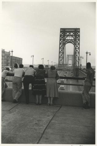 Watching Traffic, George Washington Bridge, New York City, 1954, Silver Gelatin Photograph