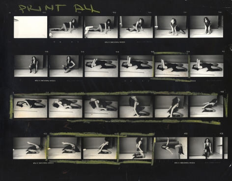 """Norman Seeff Carly Simon, """"Playing Possum"""", Los Angeles (Contact Sheet), 1974"""