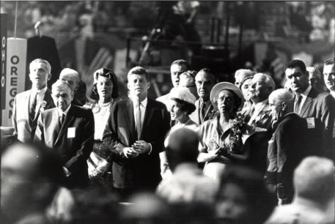 Sen. John F. Kennedy, Democratic Party National Convention, 1960, 14 x 17 Silver Gelatin Photograph