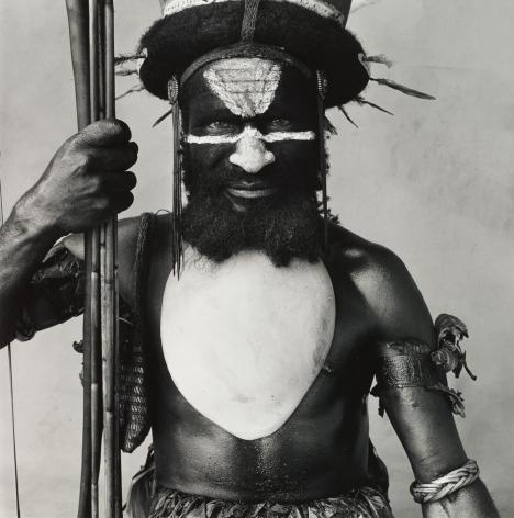 Tambul Warrior, New Guinea, 1970, Silver Gelatin Photograph, Ed. of 20