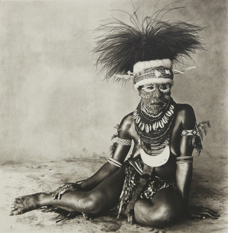 Sitting Enga Woman, New Guinnea, 1970/1984, Silver Gelatin Photograph, Ed. of 20