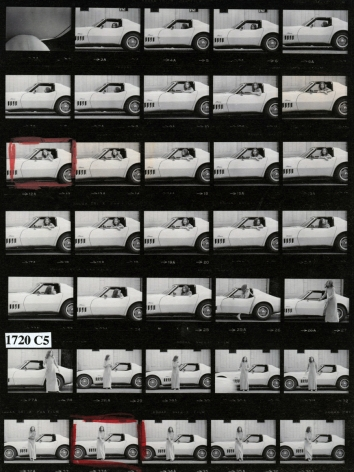 Julian Wasser Joan Didion at Home in Hollywood, Time Magazine (Contact Sheet), 1968