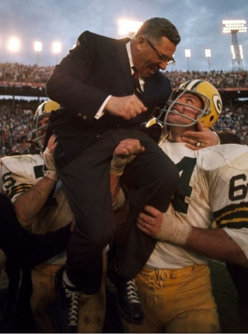Vince Lombardi, Green Bay Packer Coach after Winning Super Bowl II, Miami, Florida, January, 1968, Color Photograph