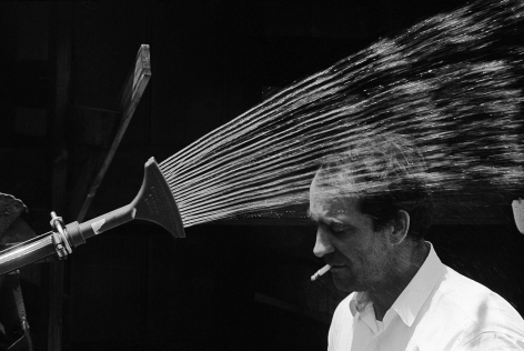 Jean Tinguely with Sprinkler, 1963