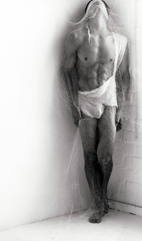 Tony with Gauze III, Los Angeles, 1990, 14 x 11 Inches, Silver Gelatin Photograph, Edition of 2