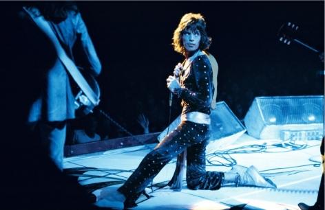 Mick Jagger on stage, Pittsburgh, USA, 1972, C-Print