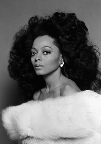 Diana Ross, Los Vegas, 1974, Silver Gelatin Photograph