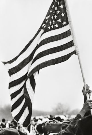 Selma March, Flag, 1965, 20x 16Inches, Silver Gelatin Photograph, Edition of 25