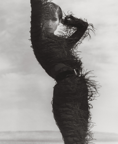 Christy Turlington - Versace, El Mirage (j), 1990, 14 x 11 Inches, Silver Gelatin Photograph, Edition of 2