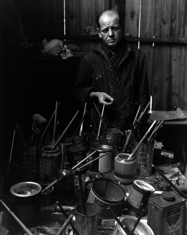 Jackson Pollock, Springs, Long Island, 1949, Silver Gelatin Photograph