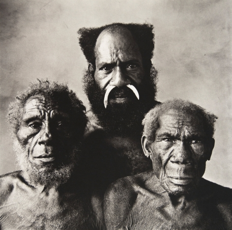 Father, Son and Grandfather, New Guinea, 1970, Platinum Palladium Photograph, Ed. of 19