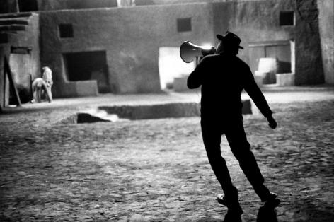 "Federico Fellini on the Set of ""Satyricon,"" Rome, Italy,1969, Silver Gelatin Photograph"