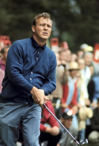 Arnold Palmer, US Open, Lake Course of the Olympic Club, San Francisco, CA, 1966, Color Photograph