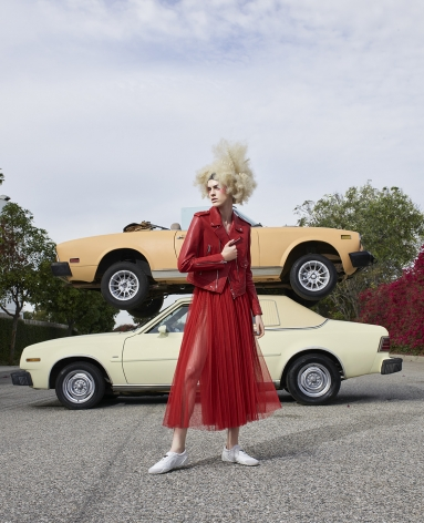 Fashion (with Stacked Cars), Los Angeles, 2016, 40 x 32 1/2 Inches, Archival Pigment Print, Edition ol 5