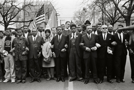 Martin Luther King Jr. and Group Entering Montgomery, 1965, 16 x 20 Inches, Silver Gelatin Photograph, Edition of 25