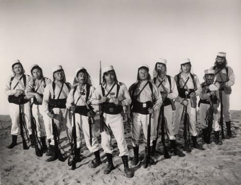 """Gilbert Roland, Burt Lancaster & Cast, """"Ten Tall Men,"""" 1951, 10-7/8 x 13-3/8 Vintage Silver Gelatin Photograph"""