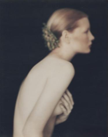 Kirsten as Juliet nude, London, Studio 17, Brook Street, 1988, Polaroid Print