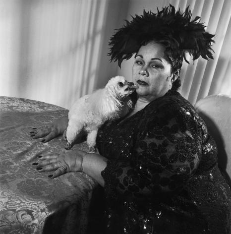 Etta James and Strappy, Riverside, California,1997, Silver Gelatin Photograph